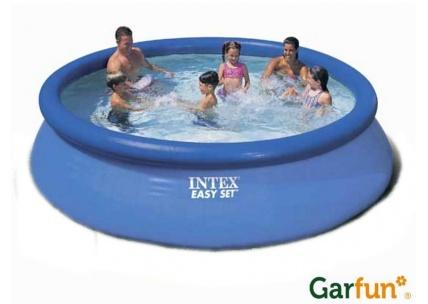 Bazén s nafukovacím prstencem, zdroj: garfun.cz